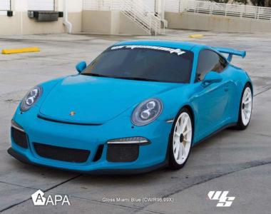 Gloss Miami Blue - Porsche 02 - wrap society - apa america_01