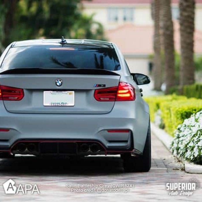 Satin Battleship Grey - BMW m3 and Benz SLS - Superior auto design - APA America_04