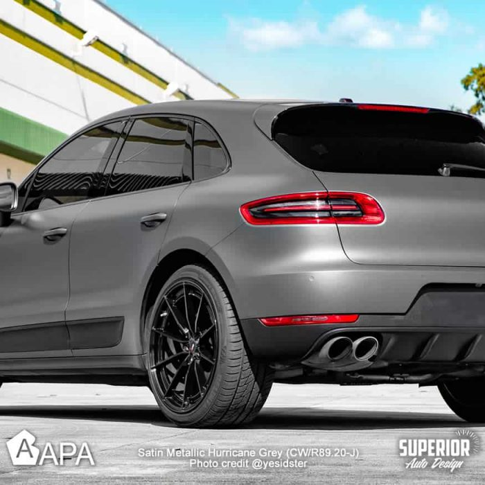 Satin Metallic Hurricane Grey - Porsche Macan S - apa america_04