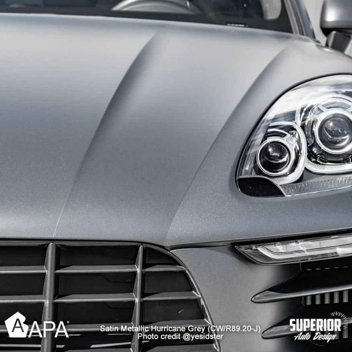 Satin Metallic Hurricane Grey - Porsche Macan S - apa america_05