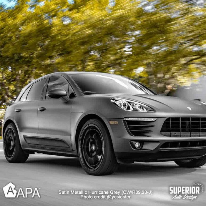 Satin Metallic Hurricane Grey - Porsche Macan S - apa america_12